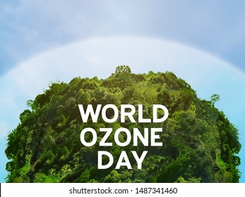 View of edge protect layer of natural circular shape. /World ozone day and conserve nature concept. - Shutterstock ID 1487341460