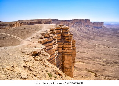 A view for the edge of the world near to Riyadh city