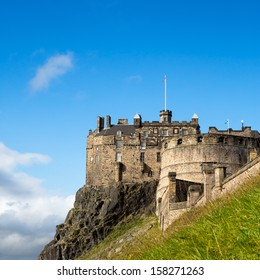 A view of Edinburgh Castle, an historic fortress perched on Castle Rock, Scotland