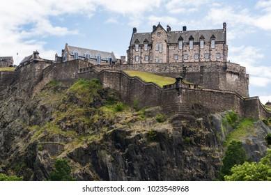 A view of Edinburgh Castle from New Town, Edinburgh, Scotland.