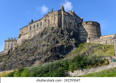 view of the Edinburgh Castle, Scotland, UK
