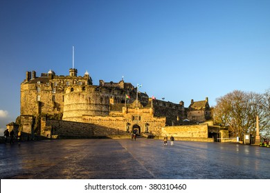View of Edinburgh Castle in Scotland, UK