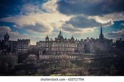 View of Edinburgh fromScott Monument, Scotland