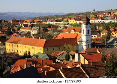 View of Eger & the castle of Eger, Hungary