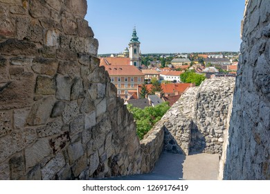 View of Eger from the Castle in Hungary on a summer afternoon.