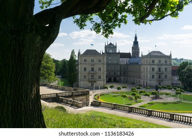 The view at Ehrenburg palace in Coburg, Germany