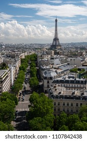 View of the Eiffel Tower from the Arc de Triomphe, Paris, France