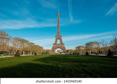 A view of Eiffel Tower in the morning in Paris, France