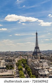 View at Eiffel tower in Paris, France