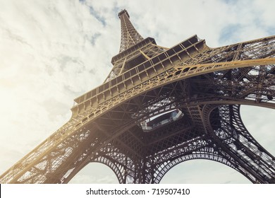 View of the Eiffel Tower at summer in paris, france