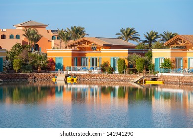 View of El Gouna town. Egypt, North Africa