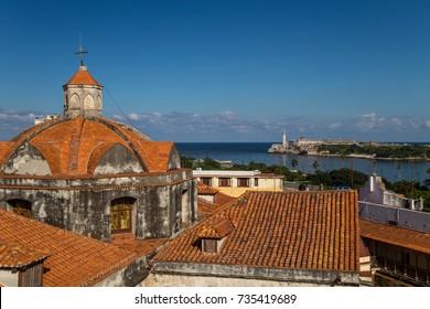 View to El Morro fort, Havana, Cuba
