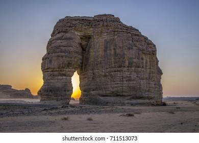 A view of Elephant Rock, Al Ula, KSA