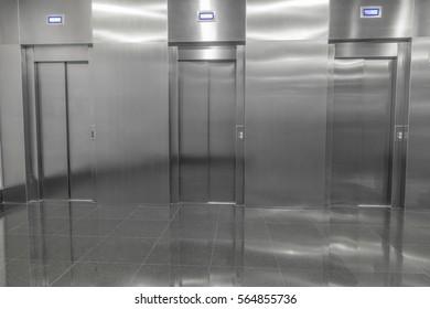 view of the elevator doors