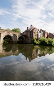 View of the Elvet Bridge across the River Wear in the city of Durham in north east England - United Kingdom