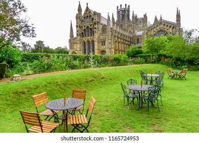 View of Ely Cathedral in Ely, Cambridgeshire, England