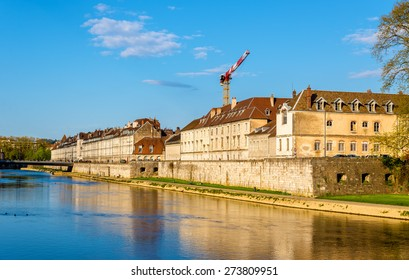 View of embankment in Besancon - France