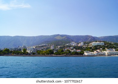 View of the embankment of Yalta from the sea, Crimea