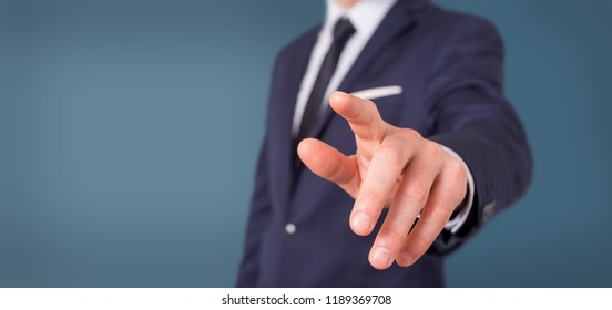 View of a Empty holding hands of a businessman at the office