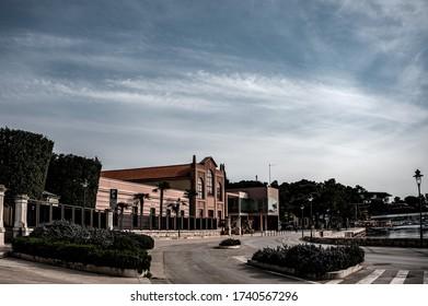 View of empty street in Rovinj - Shutterstock ID 1740567296
