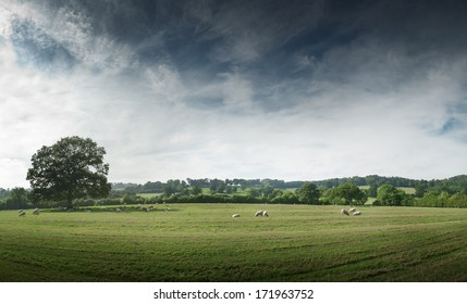View of the English countryside