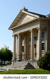 A view of the entrance of the town of Smiths Falls, Ontario public library.