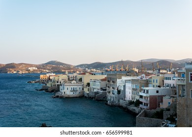 View from Ermoupolis in Syros island,Greece