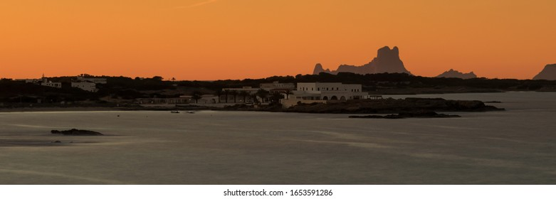 View to Es Vedra in the Afterglow