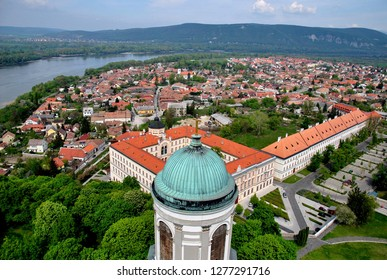 View of Esztergom from the top of the Basilica.