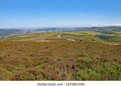 View of Exmoor National park near Minehead in Somerset, England.
