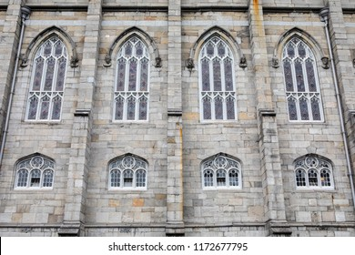 A view of the facade of the historic Chapel Royal at Dublin Castle in the historic city of Dublin in the Republic of Ireland.
