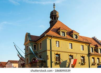 View of the facade of the historic Old Town Hall, Furth im Wald, Germany. - Shutterstock ID 1868090539