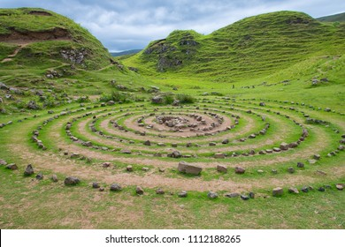 View of Fairy Glen in Isle of Skye, Scotland