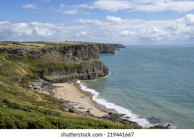 A view of Fall Bay from the cliff tops.