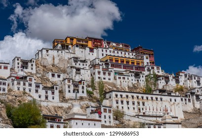 View of Famous Buddhist Monastery 'Thiksey' in Leh, Ladakh, India
