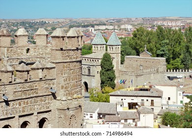 view of famous buildings of Toledo,
