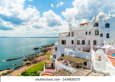 View from the famous Casapueblo, the Whitewashed cement and stucco buildings near the town of Punta Del Este, Uruguay, January 28th 2019