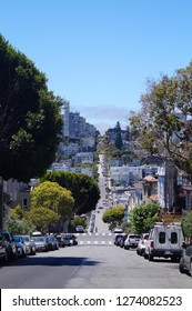 View to the famous lombard street, San Francisco