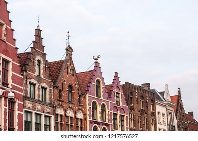 A view of the famous Markt (the market place)in Bruges. Flemish architecture. Flemish historical buildings. West Fladers, Belgium, Europe