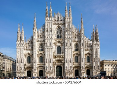 View of famous Milan Cathedral (Duomo di Milano), Italy.