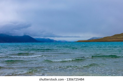 view of famous Pangong lake, in Ladakh, Jammu and Kashmir, India