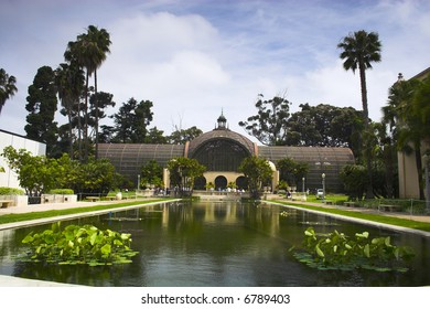 View of famous places in the Balboa Park in San Diego