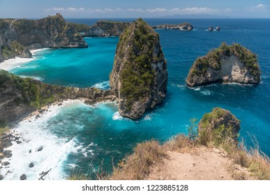 The view from the famous Rumah pohon molenteng, or the Nusa Penida Treehouse, Bali, Indonesia.