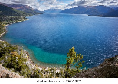 View from famous Traful lake viewpoint, Seven Lakes Route  Neuquen, Patagonia, Argentina