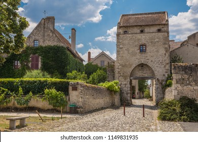 View at the famous village Charroux, one of the most beautiful villages in France, Allier - France