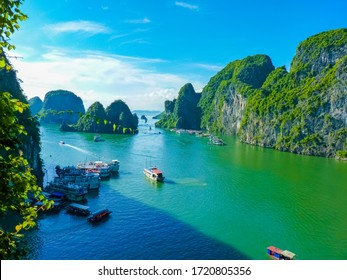 View Of Famous world heritage Halong Bay In Vietnam