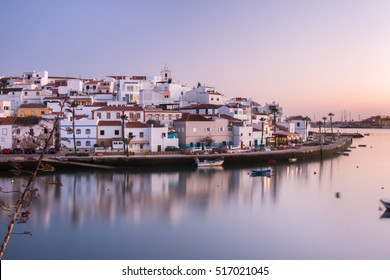 View of Ferragudo village beautiful coastal village located in Portugal.