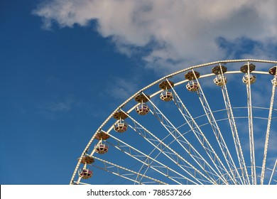 View of a ferris wheel located in Vienna Prater park.