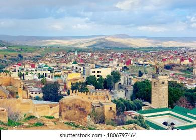 View of Fes medina. Morocco