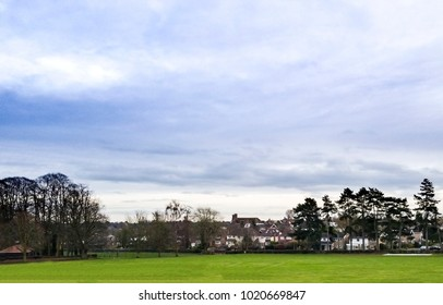 View to fields of Bishops Stortford tennis club